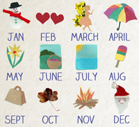 12 Months Make A Year : Months of the Year Song