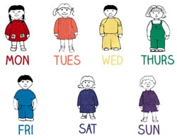 Days of the Week Chant Kids Songs