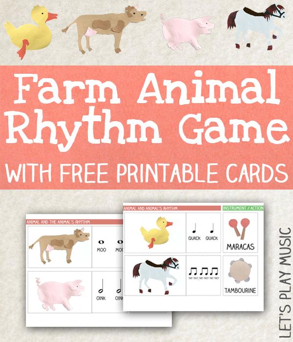 Animal Rhythm Game with Free Printable Rhythm Cards