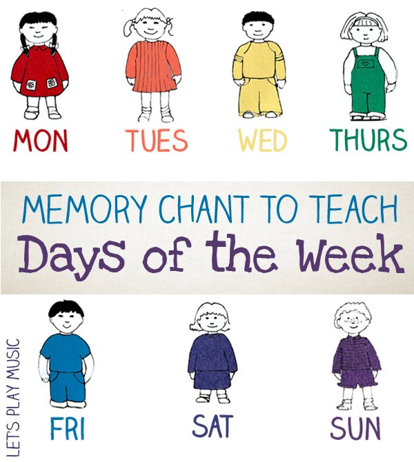 Chant to Teach the Days of the Week