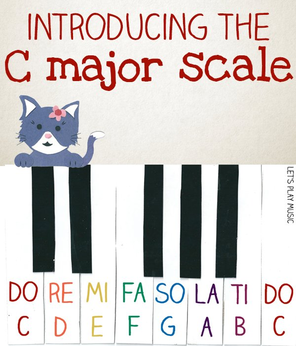 introducing the C major scale