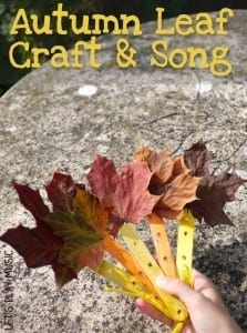 Fluttering Autumn Leaves Song and Craft