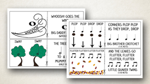 Autumn Rhythm Game for Preschoolers