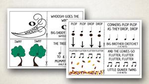 Autumn Rhythm Game for Preschoolers
