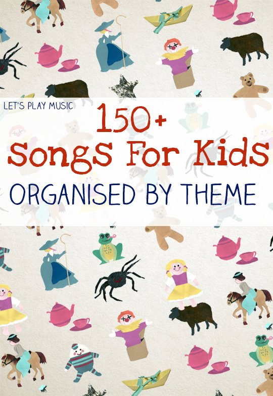 150+ free kids songs organised by preschool theme, with lots of activity suggestions for how to use them too!