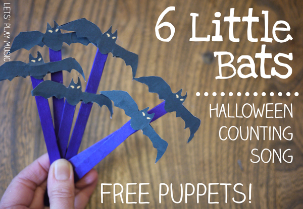 6 little bats halloween counting song