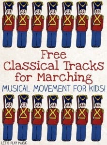 Free Classical Tracks for Marching - great for encouraging lots of movement!