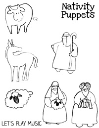 Nativity Song Puppets