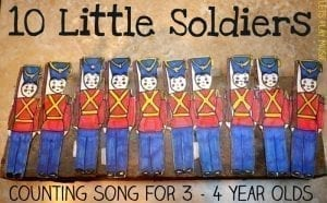 10 Little Soldiers Counting Song