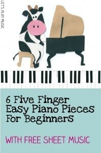 6 Five finger Easy Piano Pieces for beginners with free sheet music