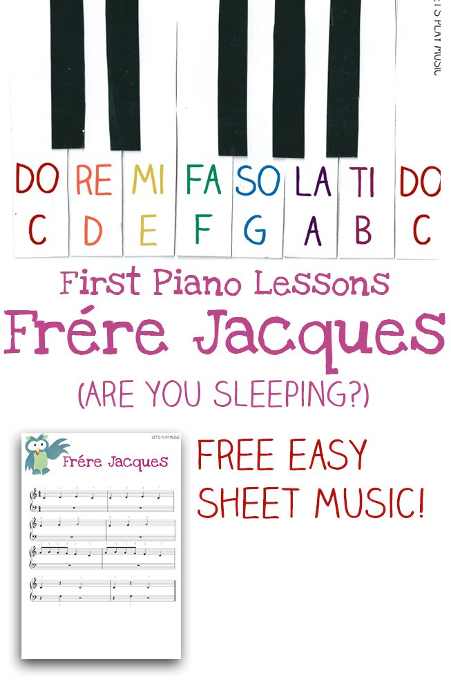 Easy Piano Music Frere Jacques
