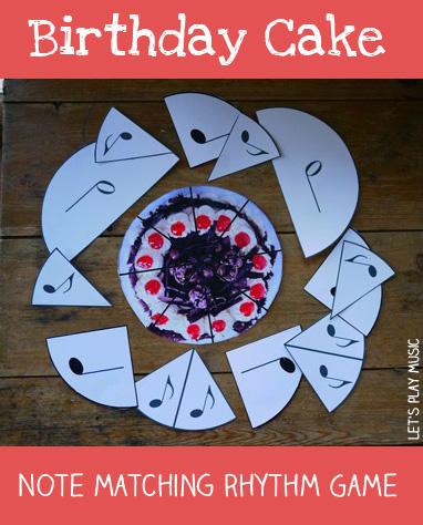 birthday cake note matching rhythm game