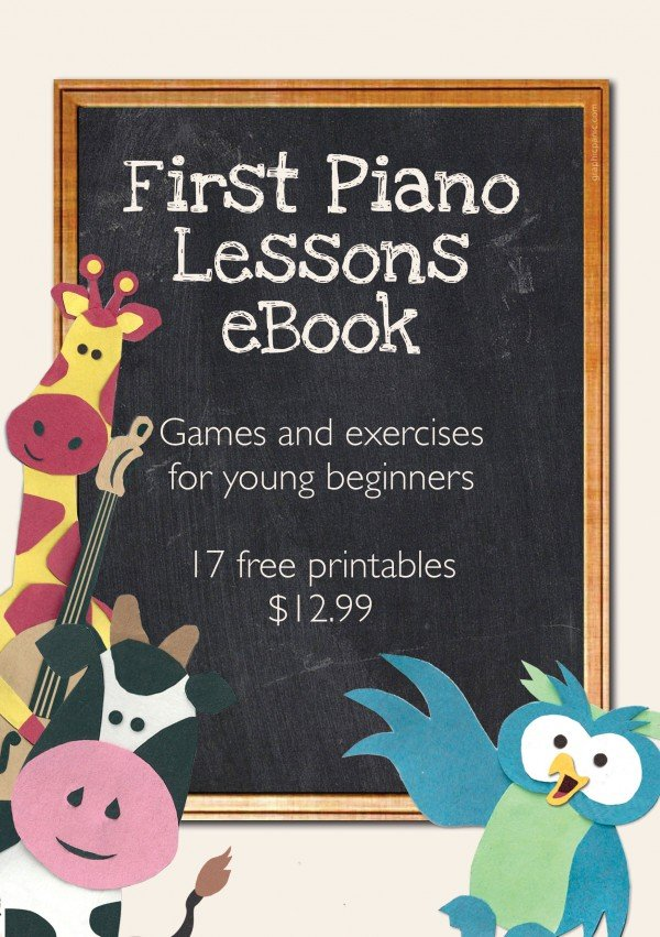 First Piano Ebook landing page