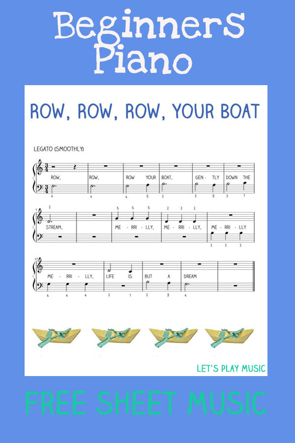 Row, Row, Row Your Boat easy Piano For beginners
