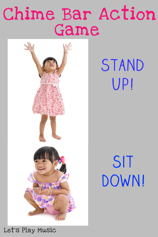 Chime bar action song - stand up - sit down