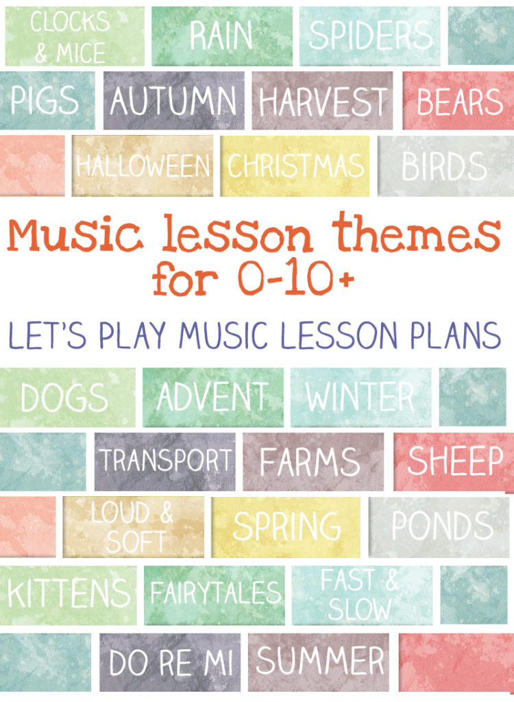 music lesson plan themes