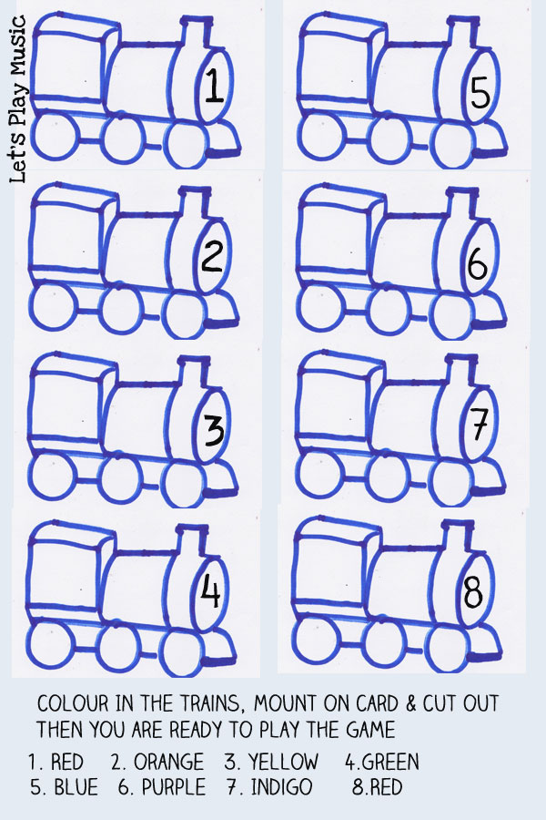 Note naming with trains printable sheet