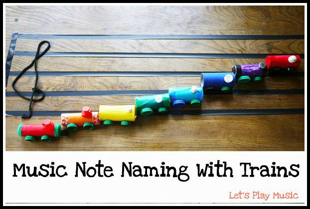 Music Note naming with trains