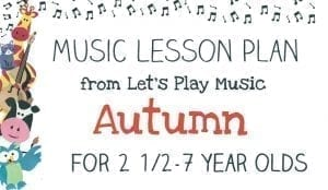 Autumn Lesson Plan