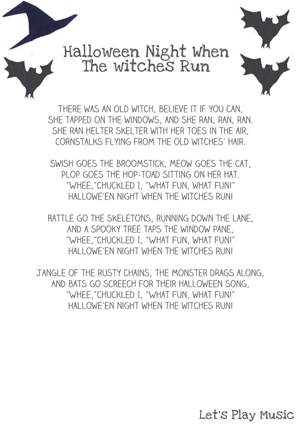 Halloween Night When The Witches Run - Spooky Sound Stories
