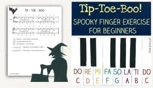 Spooky finger exercise for piano beginners