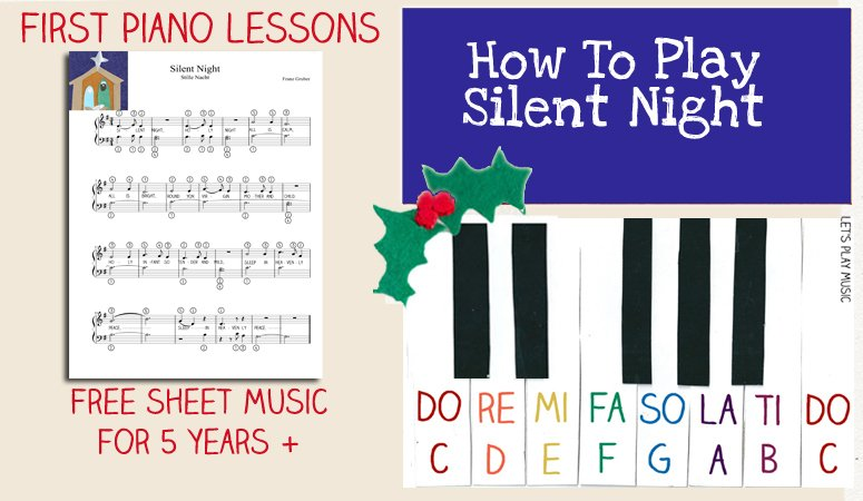 Silent Night easy Piano sheet music