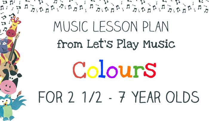 Lesson Plan : Colours Image