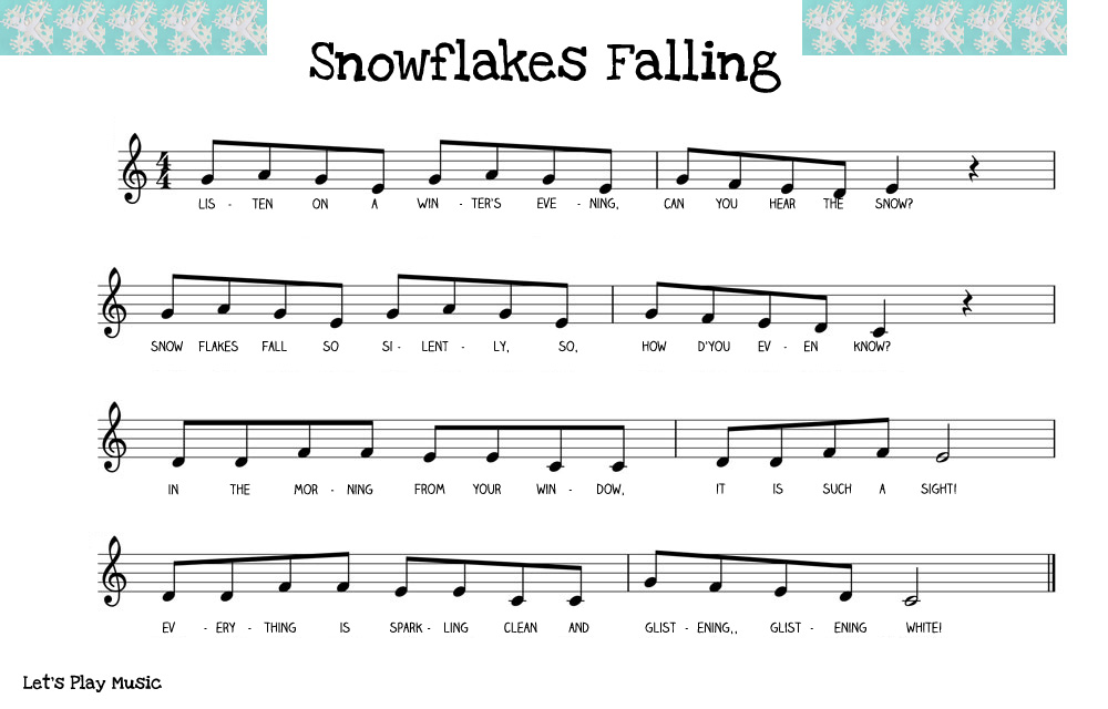 snowflakes falling sheet music.