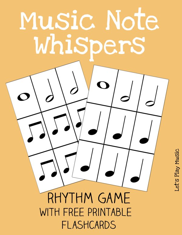 image regarding Music Note Flashcards Printable called Songs Notice Whispers Rhythm Match - Makes it possible for Participate in Tunes
