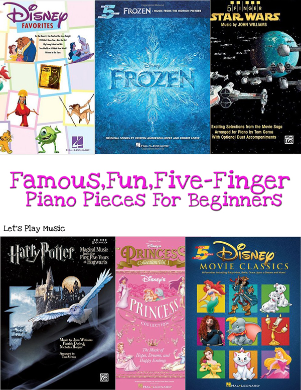 famous fun five finger piano books and pieces for beginners