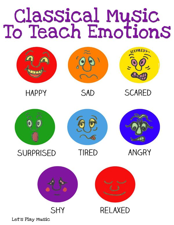 Classical music to teach emotions