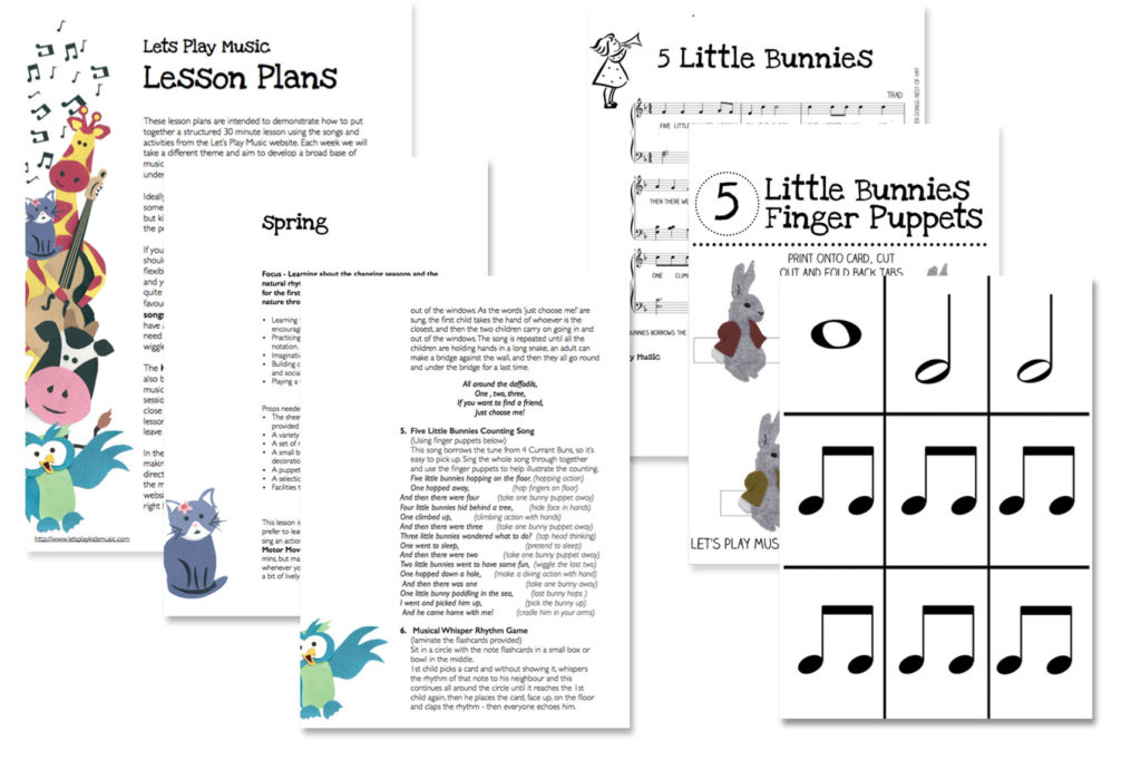 spring u2013 music activity plan let u0027s play music