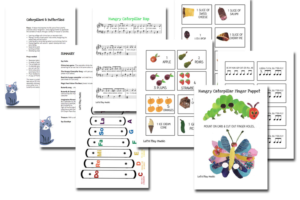 caterpillars & butterflies lesson plan images