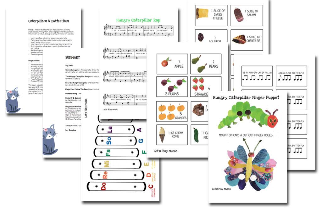 caterpillars & butterflies lesson plan images