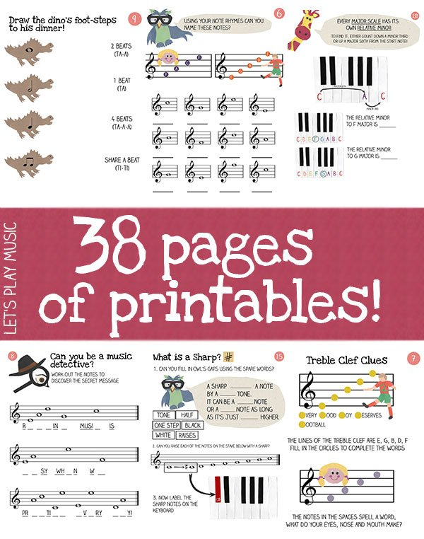 How To Read Music Made Easy - comes with 38 printables!