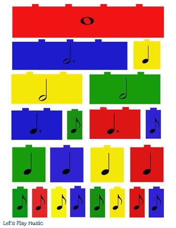 Lego beats music manipulative rhythm sheet