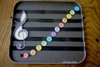 DIY Music magnet notes