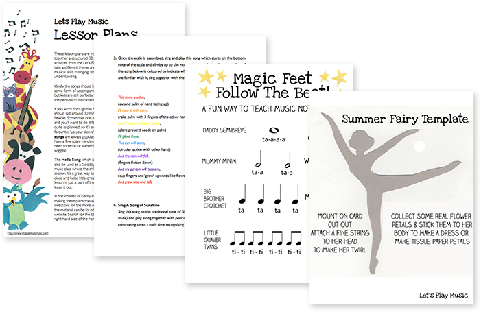 Summer lesson & activity plan pages