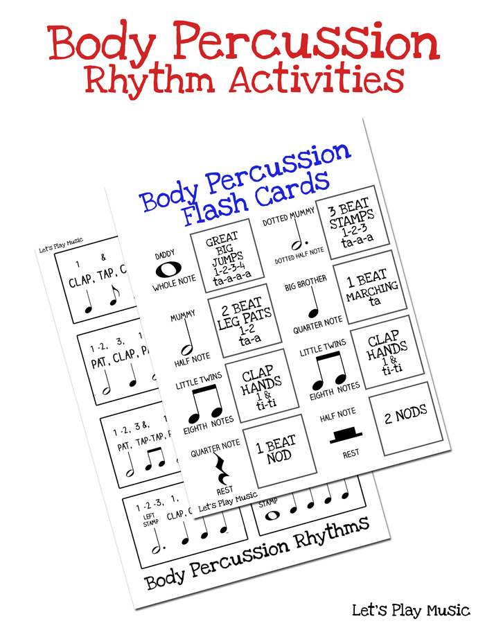 Body Percussion Rhythm Activities - Let's Play Music