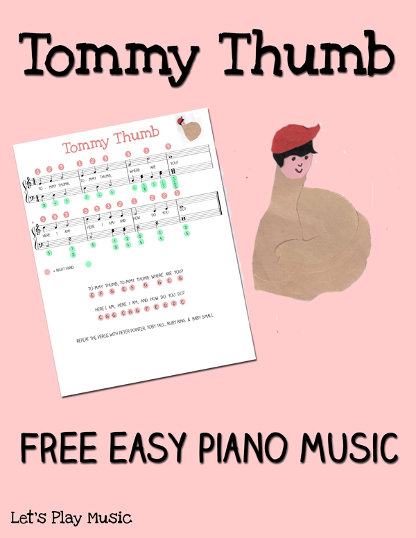 Tommy Thumb easy piano music