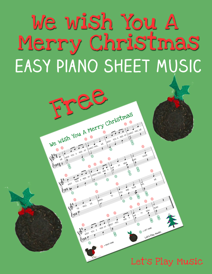 graphic about Lyrics to We Wish You a Merry Christmas Printable titled We Want On your own A Merry Xmas Uncomplicated Piano Sheet Tunes - Makes it possible for