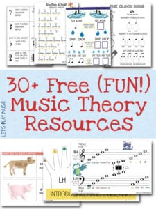 Music Theory Worksheets & Rhythm games