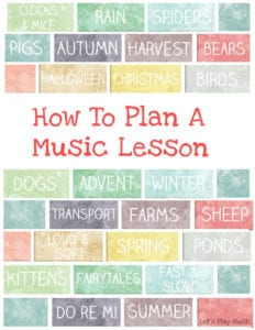 How to plan a music lesson