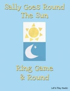 Sally goes round the sun ring game and round