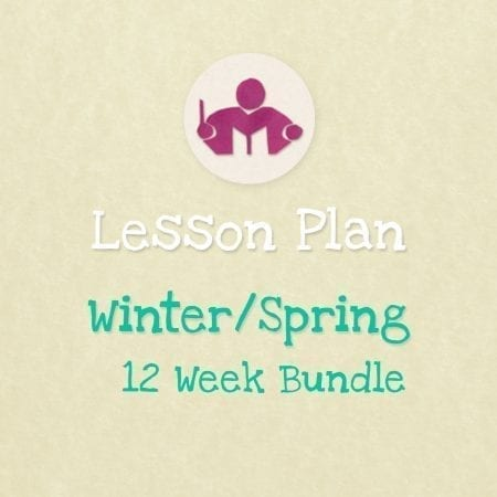 Winter/Spring 12 week lesson plan bundle
