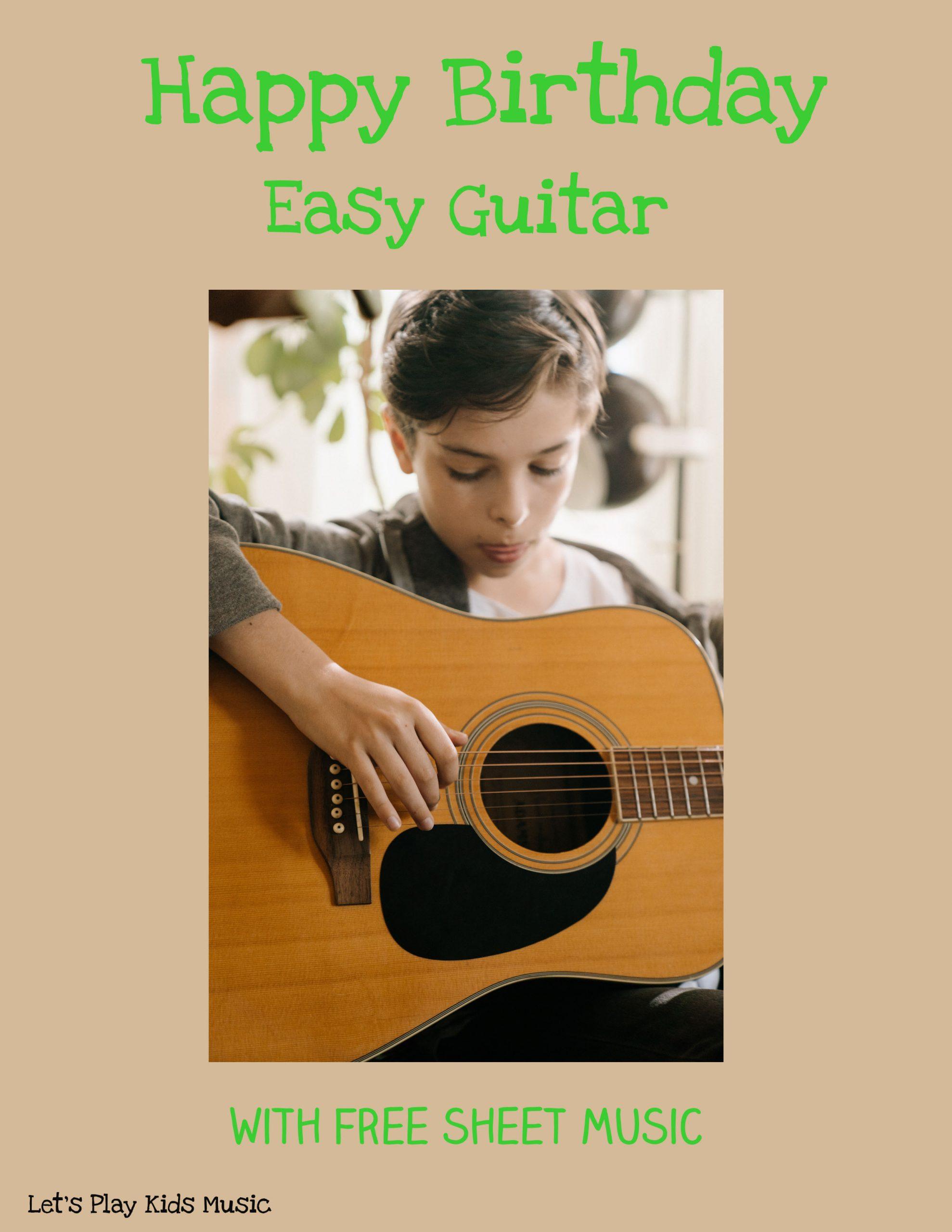 HHappy Birthday Easy Guitar