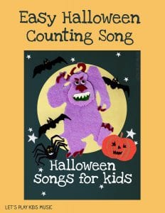 EASY HALLOWEEN COUNTING SONG