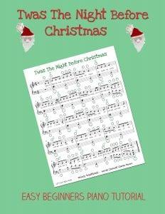 Night Before Christmas Easy Piano